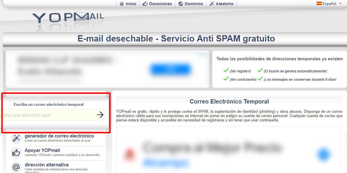 Cómo crear una dirección de correo electrónico temporal con YOPMail de forma rápida, segura y totalmente gratuita