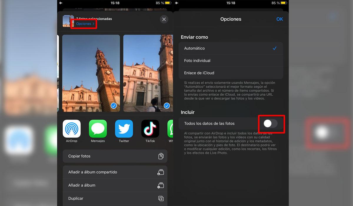 Cómo desactivar la ubicación EXIF de tus fotos en iPhone y iPad