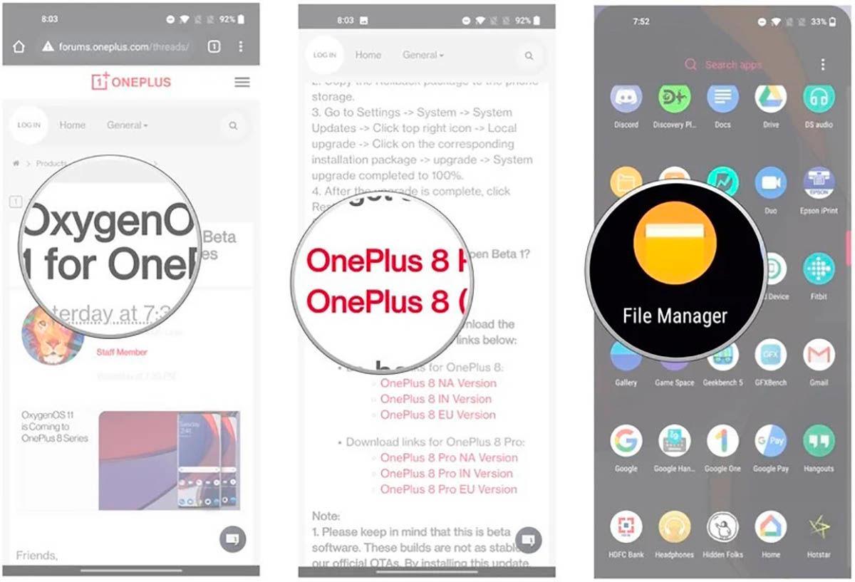 Como descargar Android 11 para OnePlus