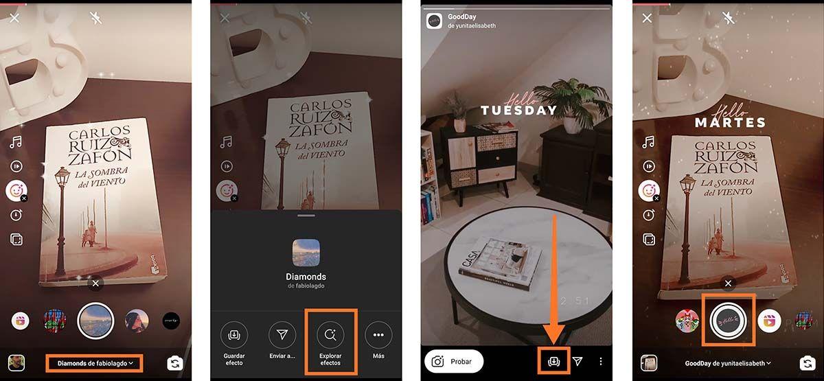 Como descargar otros efectos en Instagram Reels