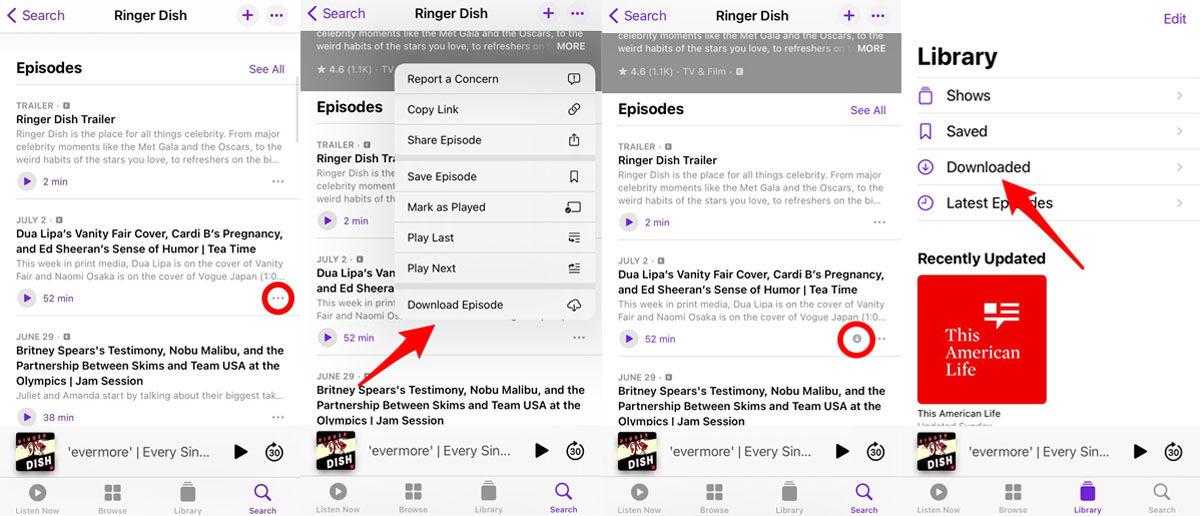 Cómo descargar podcasts de Apple Podcasts en tu iPhone paso a paso