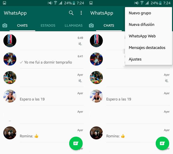 Como desconectar WhatsApp Web Paso 2