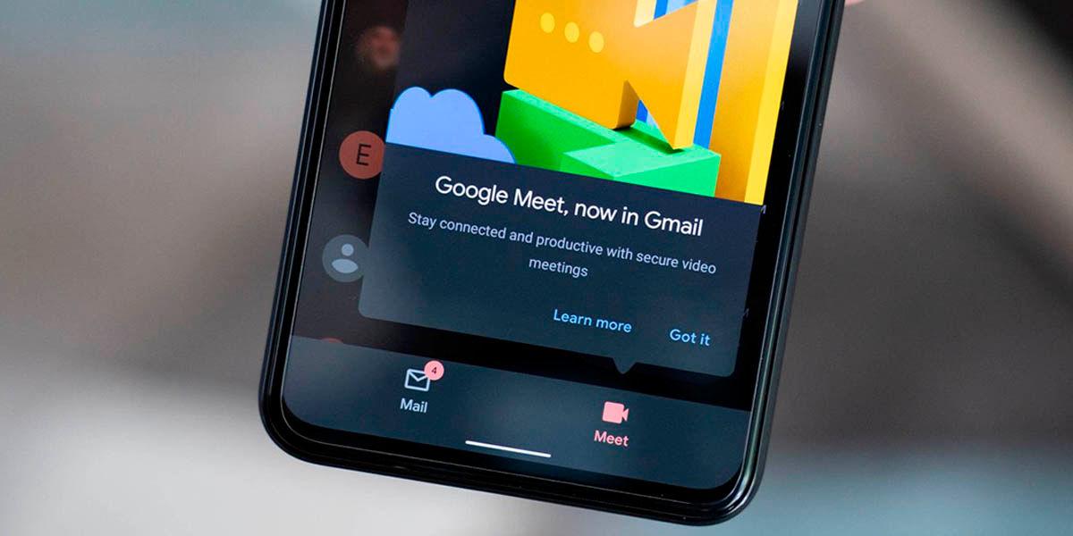 Como deshabilitar Google Meet en la app de Gmail