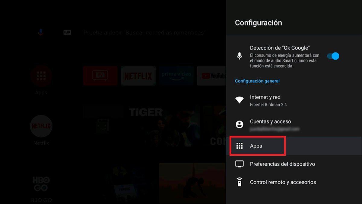 Como desinstalar aplicaciones en Android TV