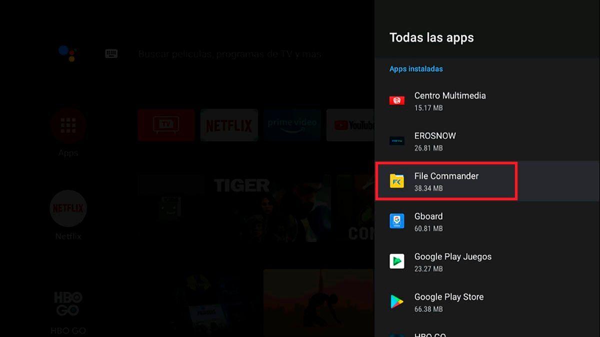 Como desinstalar aplicaciones en un Android TV