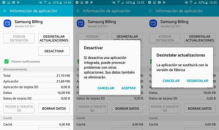 Como eliminar aplicaciones de fabrica Android Paso 2
