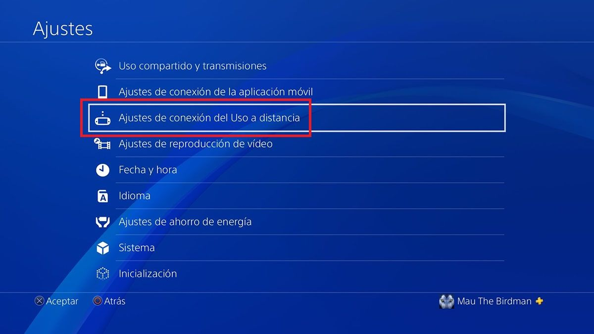 Como encontrar numero PS4 Remote Play en PS4 Paso 2