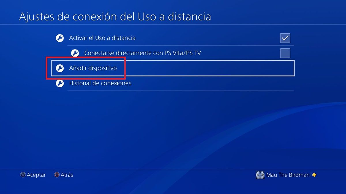 Como encontrar numero PS4 Remote Play en PS4 Paso 3