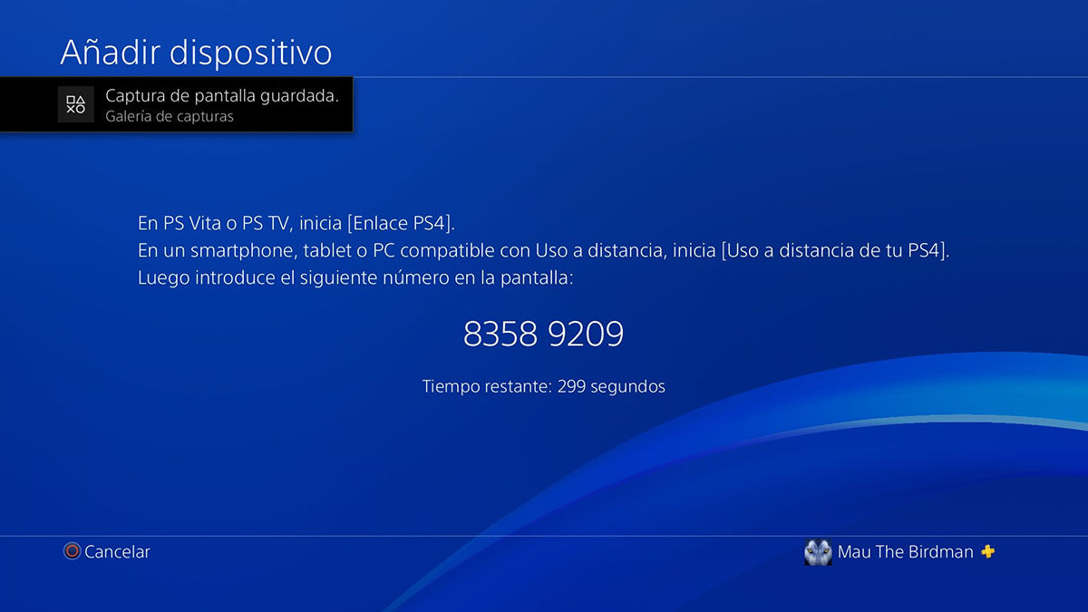 Como encontrar numero PS4 Remote Play en PS4 Paso 4