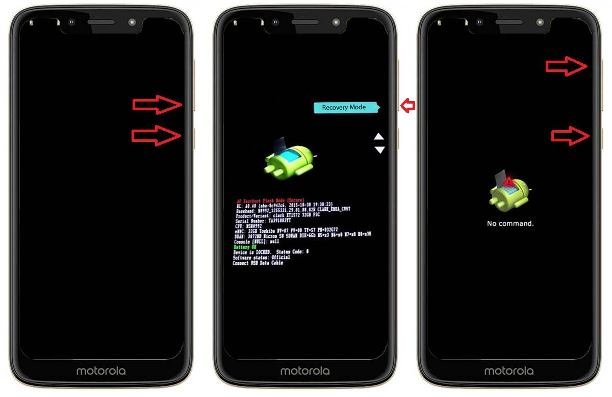 Cómo entrar Recovery Mode Moto G7 Power
