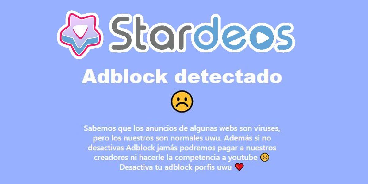 Cómo entrar a Stardeos sin desactivar el adblock para no ver publicidad