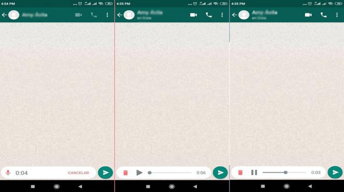 Como escuchar audios whatsapp antes de enviarlos