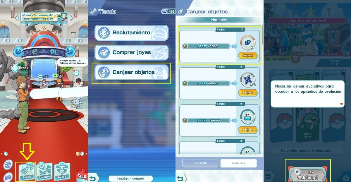Como evolucionar a los Pokemon en Pokemon Masters 2