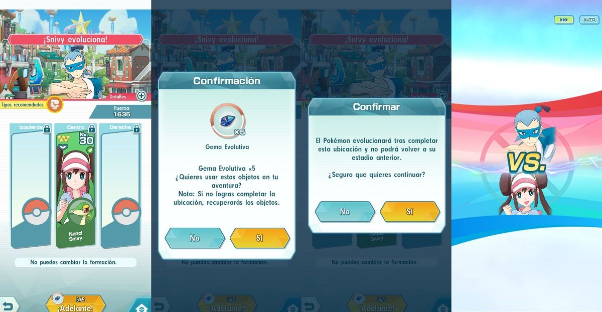Como evolucionar a los Pokemon en Pokemon Masters 4