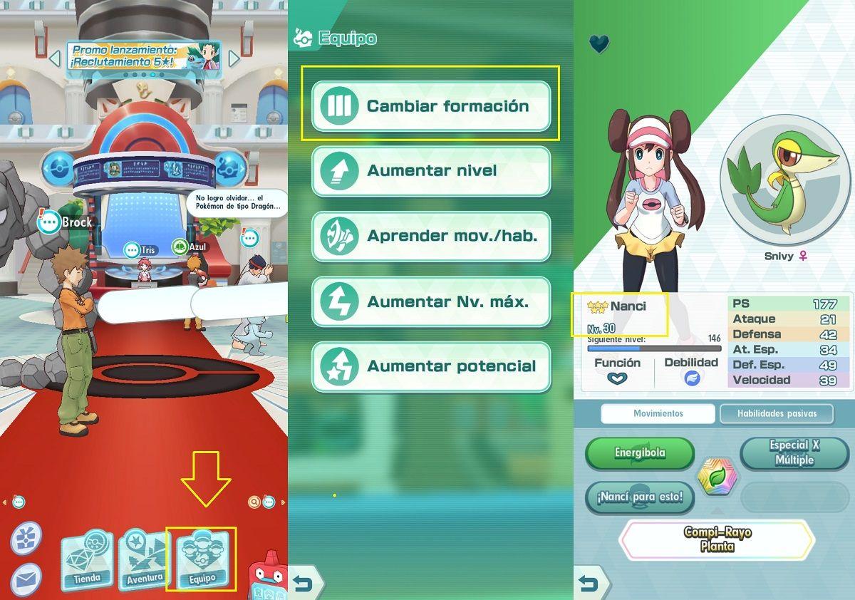 Como evolucionar a los Pokemon en Pokemon Masters
