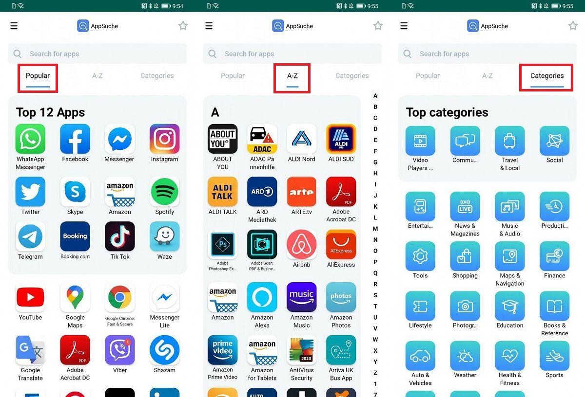 Como funciona Huawei App Search