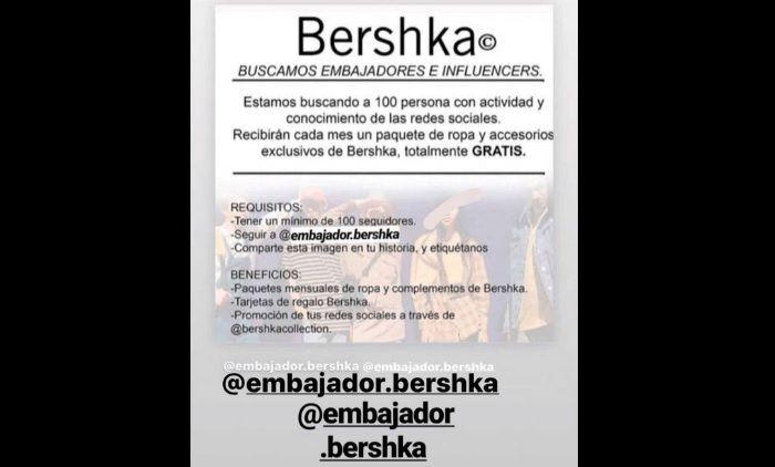 Como funciona la estafa de Bershka en Redes Sociales