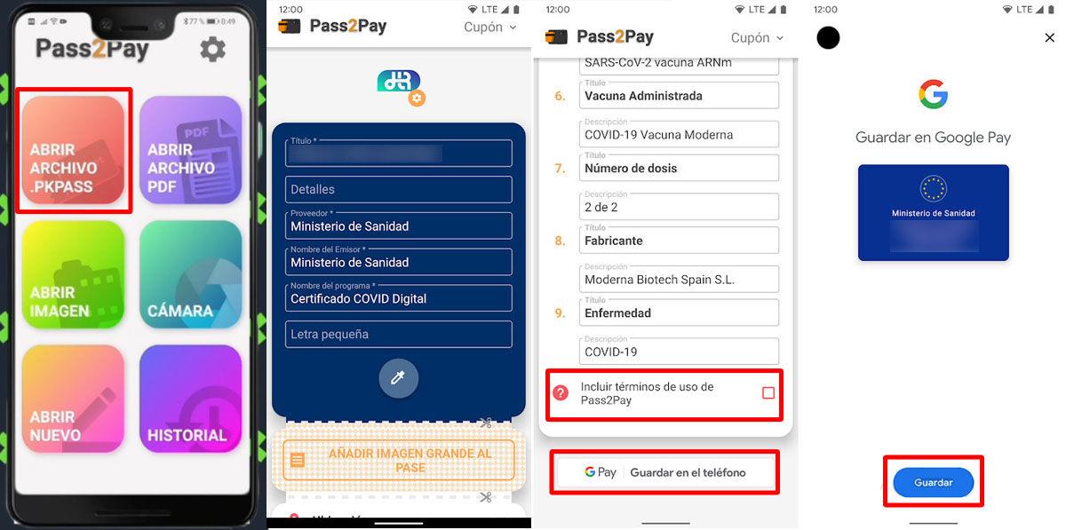 Cómo guardar tu certificación COVID en Google Pay paso a paso