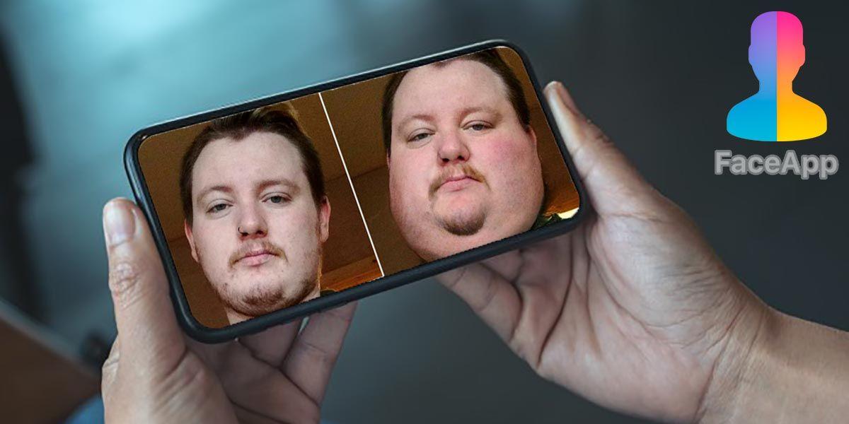 Como hacerte gordo con el filtro de FaceApp