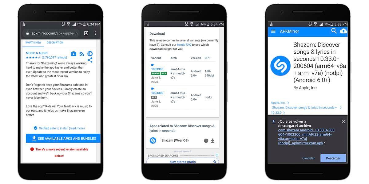 Cómo instalar en Android una versión anterior de una aplicación