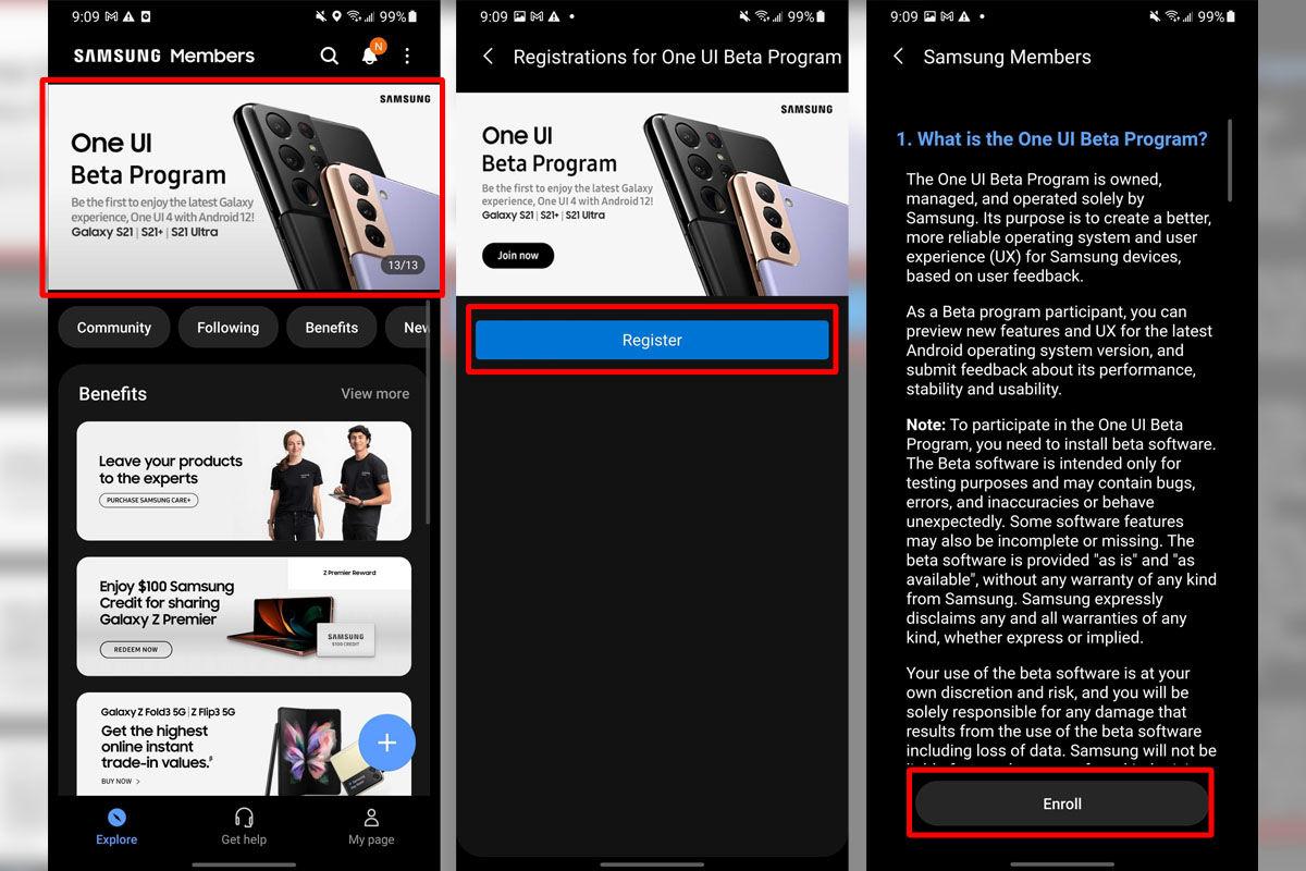 Cómo instalar la actualización Beta One UI 40 de Android 12 paso a paso