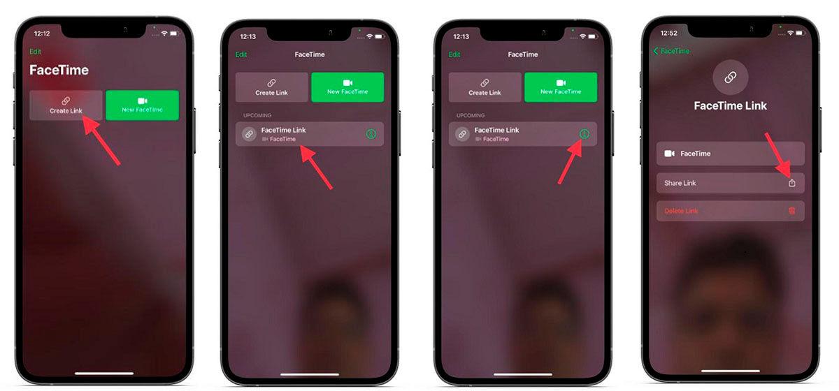 Cómo invitar Android o Windows a llamada FaceTime