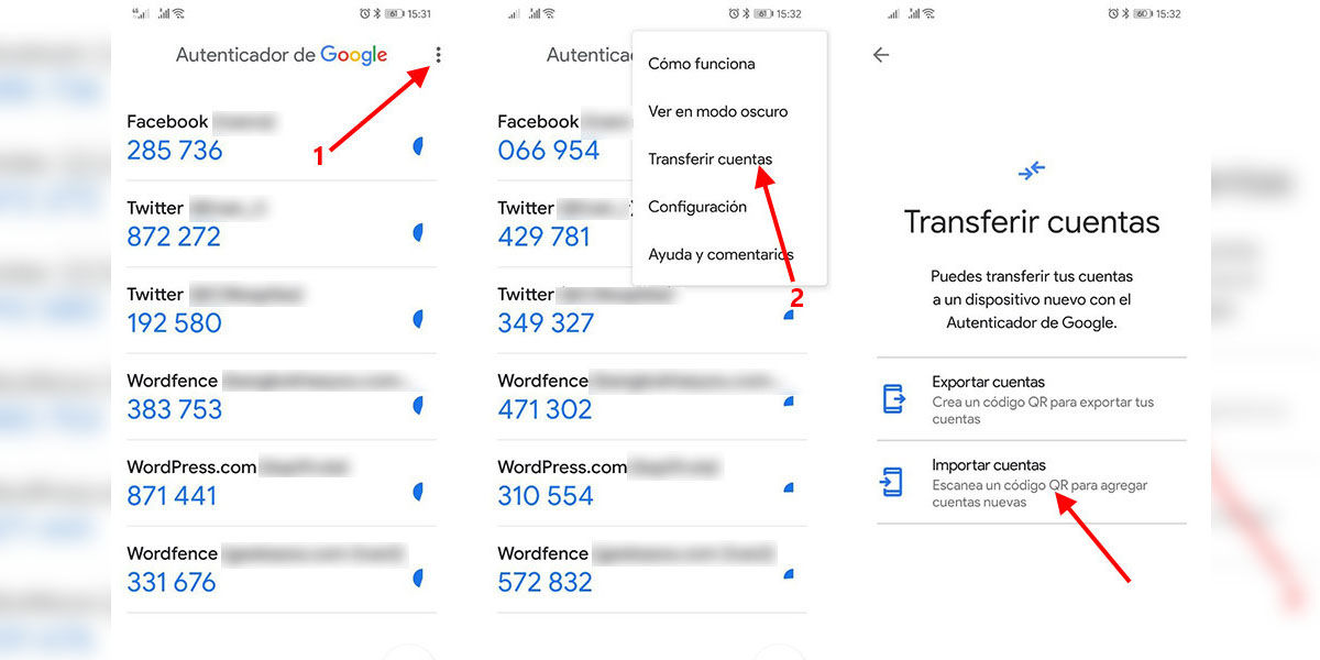 Cómo migrar todas tus cuentas del Autenticador de Google a tu nuevo móvil muy fácil