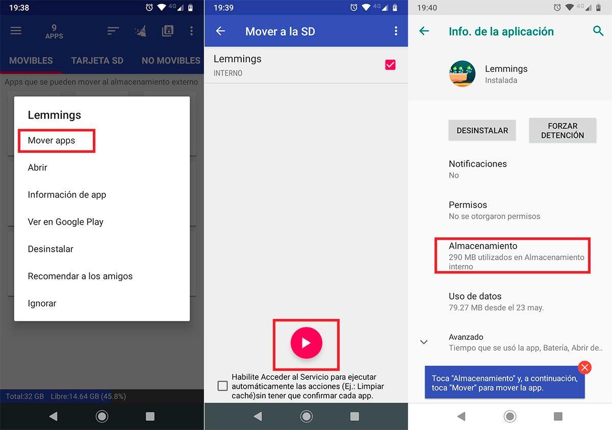Como mover apps a la tarjeta microSD 2