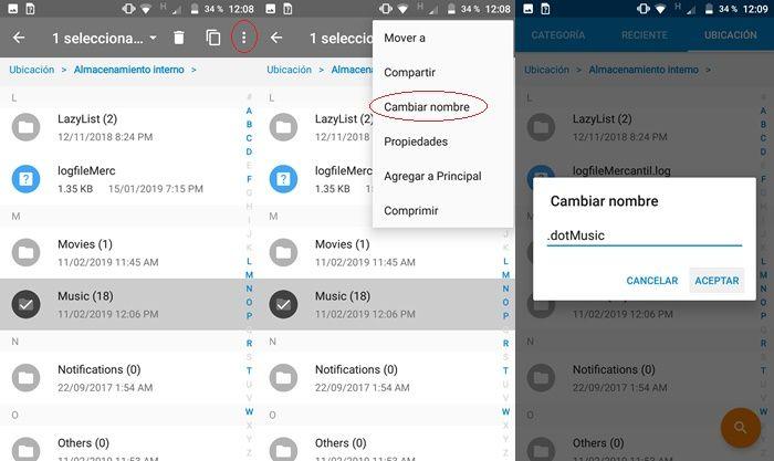 Cómo ocultar carpetas en Android