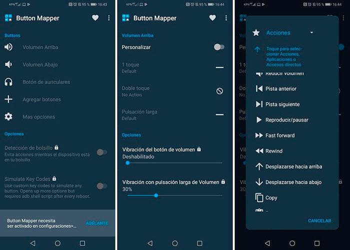 Como pasar de cancion botones de volumen Android