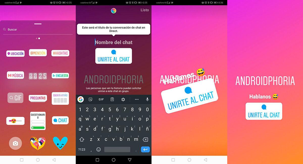 Como poner un chat en las historias Instagram