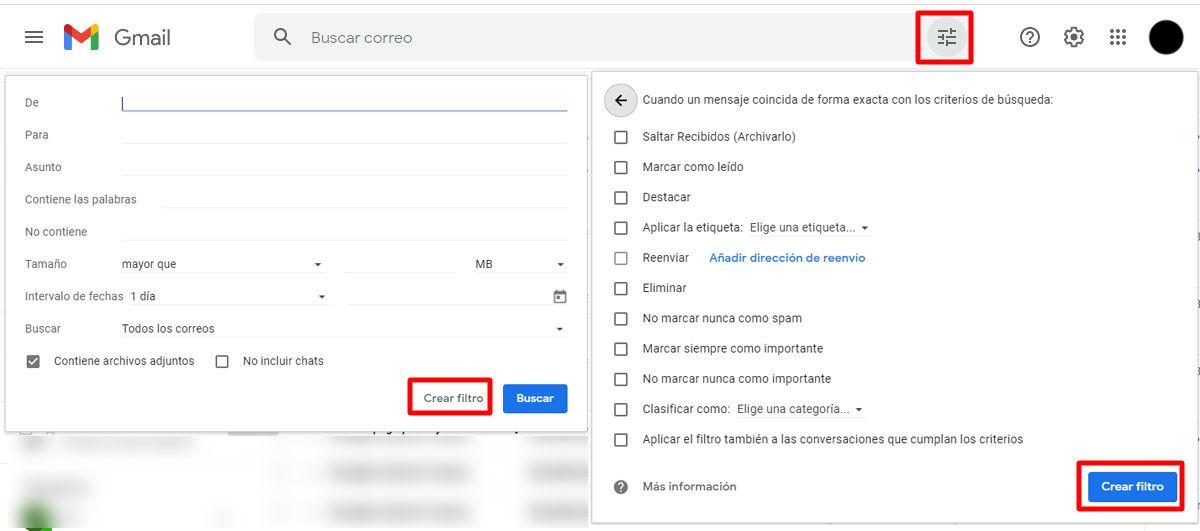 Cómo ponerles un filtro a los nuevos correos que te lleguen a Gmail