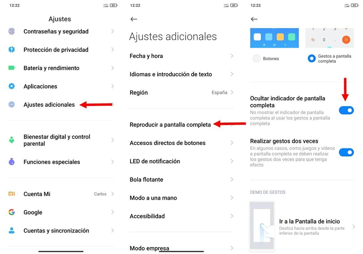Como quitar barra de MIUI 12 que imita a la de iOS