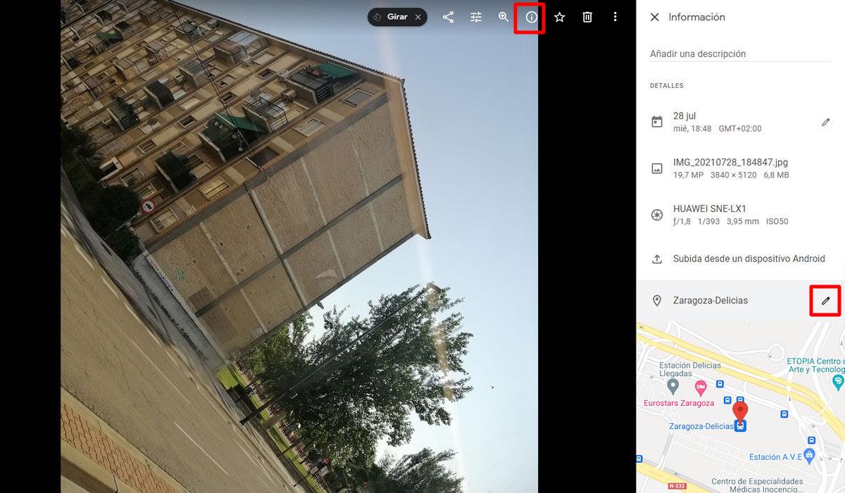 Cómo quitar la ubicación GPS de tu galería de Google Fotos desde el ordenador