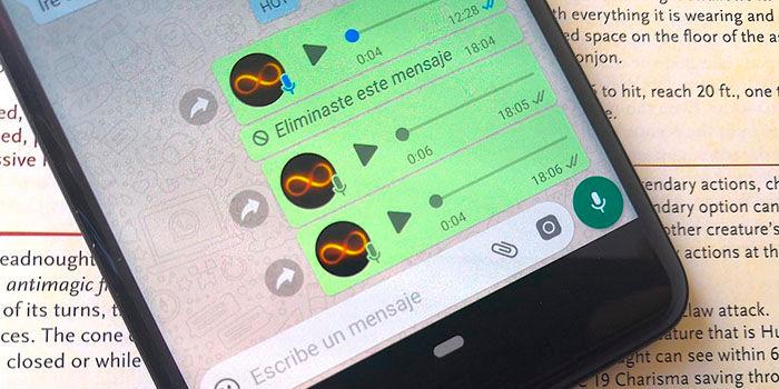 Como recuperar notas de voz en WhatsApp