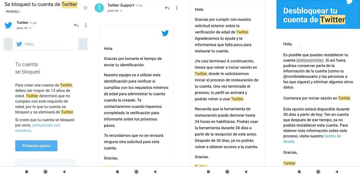 Cómo recuperar perfil Twitter te registraste con 12 años o menos
