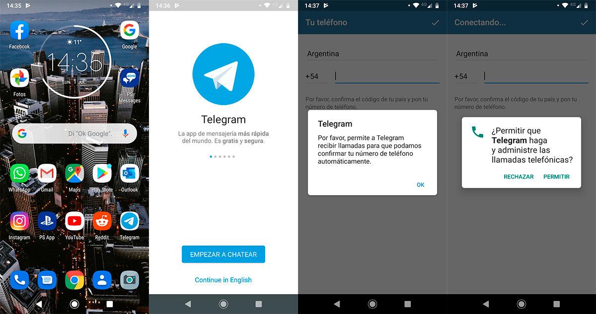 Como recuperar una cuenta de Telegram Paso 1