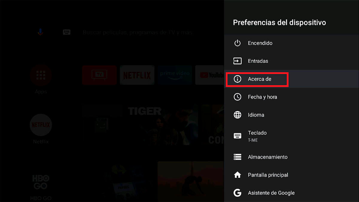 Como reiniciar Android TV