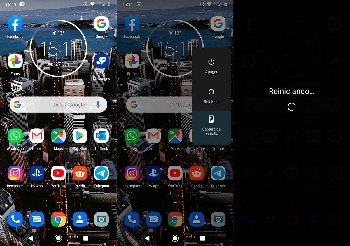 Como reiniciar telefono Android
