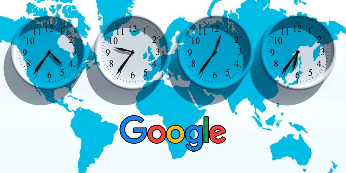 Como saber la diferencia horaria entre dos paises usando Google