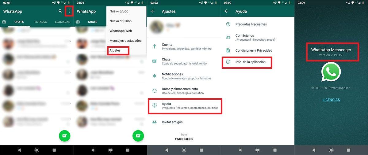 Como saber si tienes la ultima version de WhatsApp