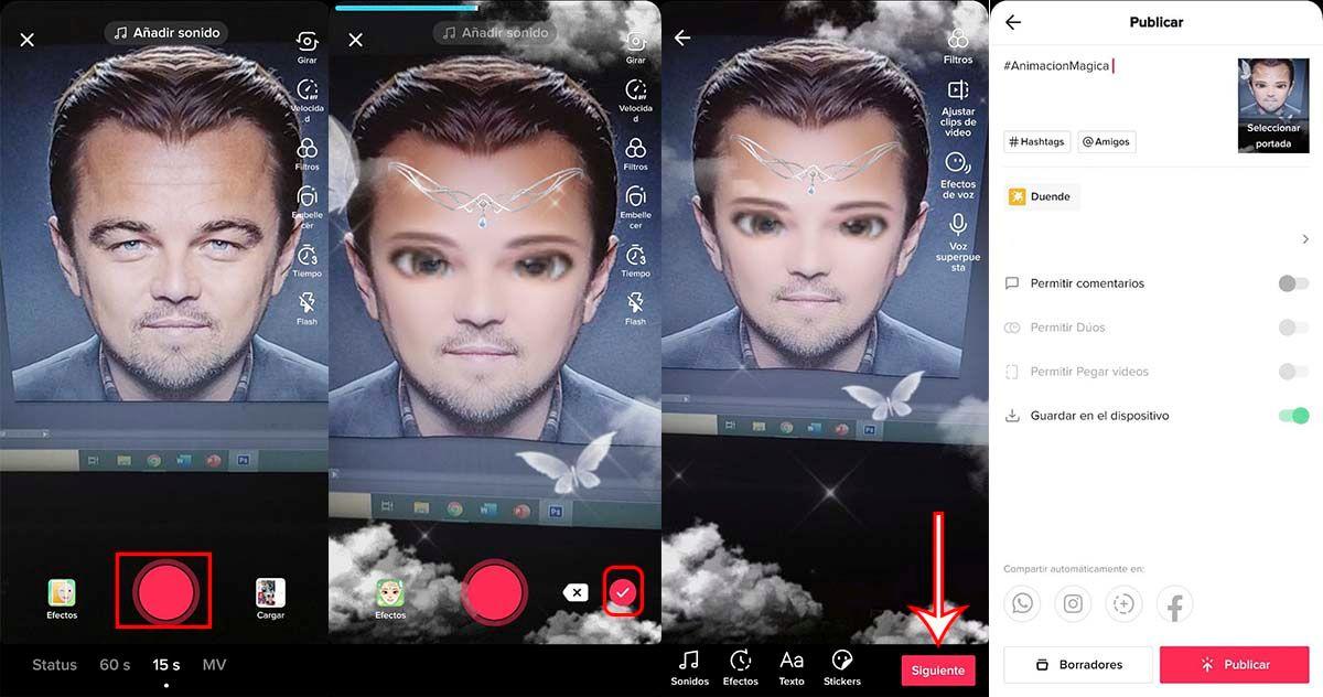 Cómo se usa filtro TikTok que te convierte en un duende