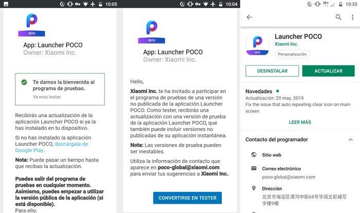 Como ser beta tester del Poco Launcher