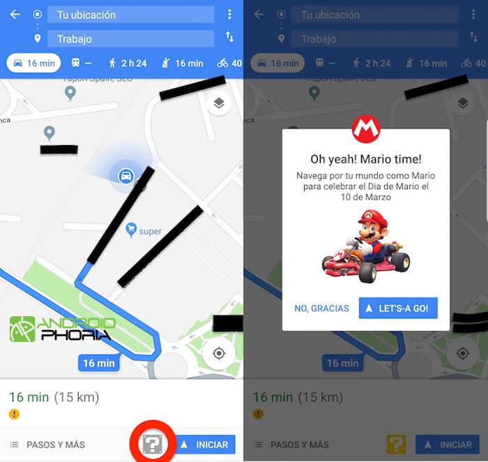 Como tener a mario en google maps