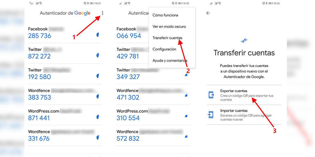 Cómo transferir todas tus cuentas de Google Authenticator al cambiarte de móvil