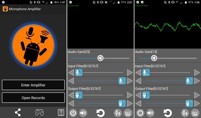 Cómo usar Microphone Amplifier en Android