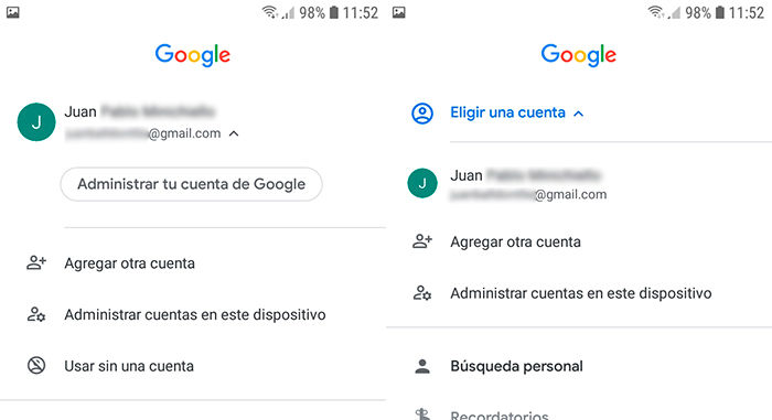 Como usar asistente de google sin cuenta paso 2