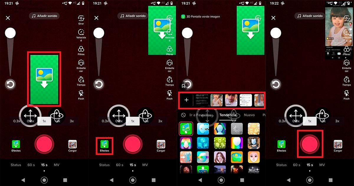 Como usar efecto 3d pantalla verde imagen en TikTok