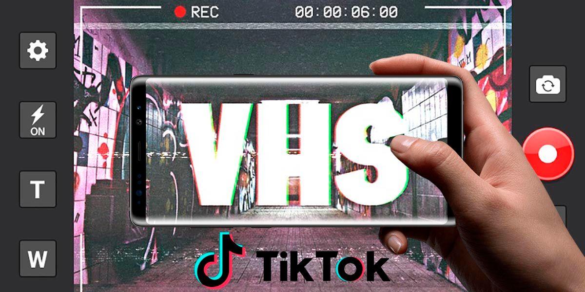 Como usar el filtro VHS Retro TikTok