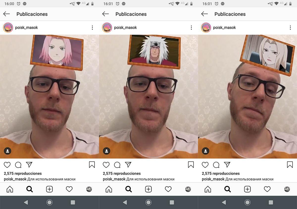 Cómo usar el filtro de Naruto Instagram